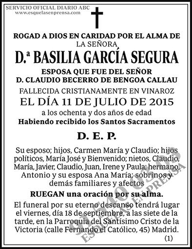 Basilia García Segura
